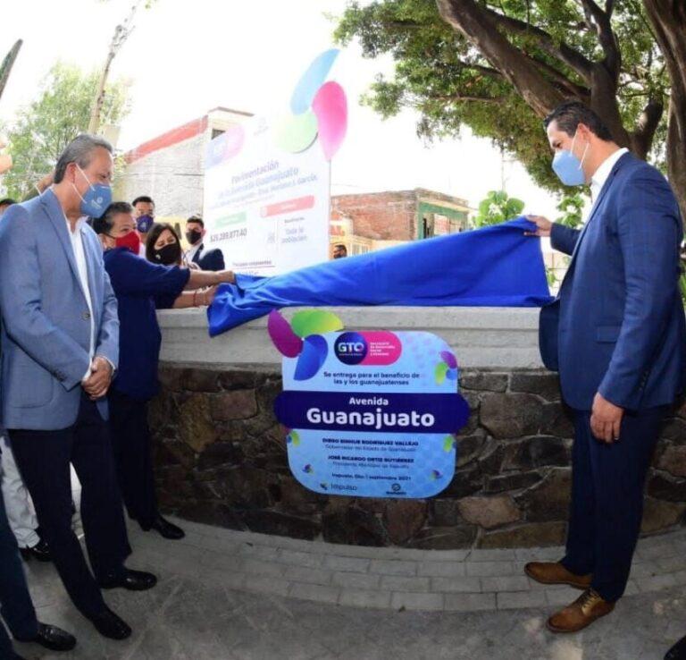 Alcalde inaugura Rehabilitación de la Avenida Guanajuato.