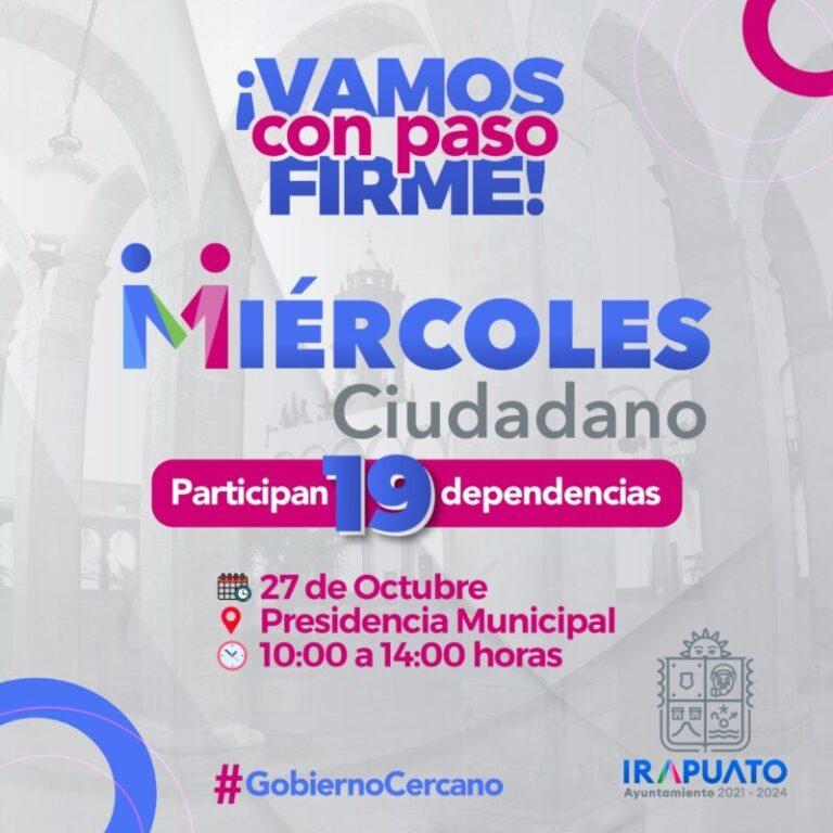 Invitan a participar en Miércoles ciudadano